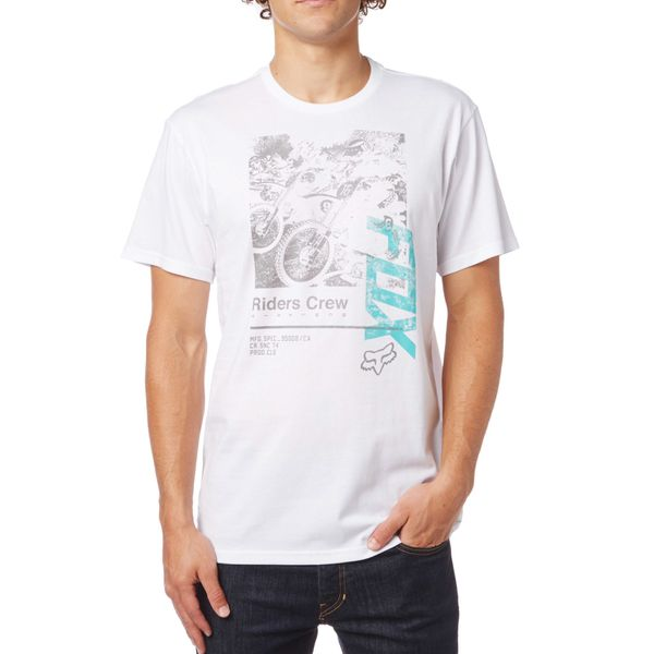 FOX pánské tričko Black Cherry M bílá