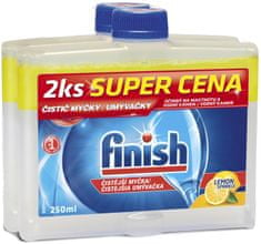 Finish Čistič myčky Lemon 2x 250 ml