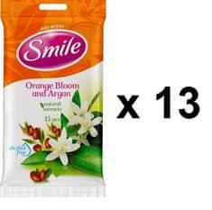 SMILE vlažne maramice Naranča, 13x15 kom
