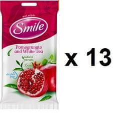 SMILE vlažilni robčki Granatno jabolko, 13x15 kosov