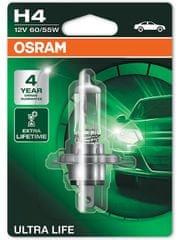 Osram 12V H4 60/55W P43t 1ks Ultra Life Blister
