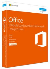 Microsoft Office 2016 Home & Business PL Win 32-bit/x64 P2 T5D-02786. Stare SKU: T5D-02439