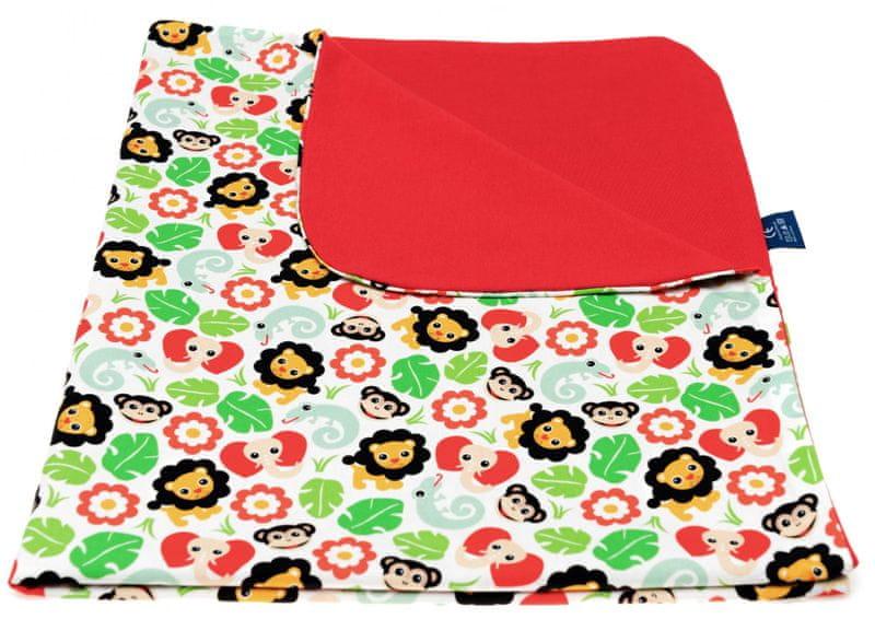 CuddlyZOO Dětská deka letní - safari/červená