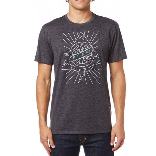 FOX pánské tričko Dormant M tmavě šedá
