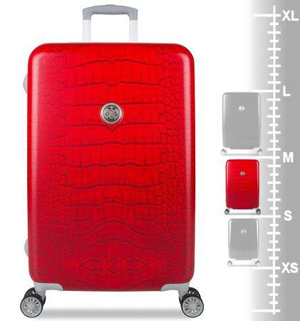 SuitSuit Cestovní kufr Red Diamond Crocodile M  16f5313ad3