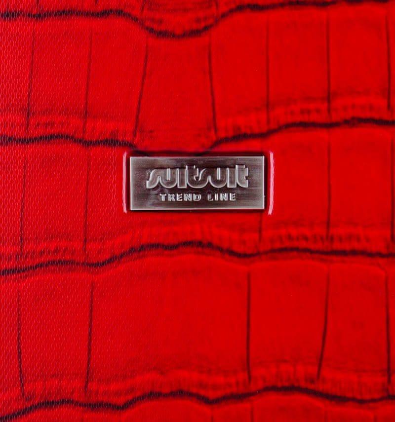 SuitSuit Cestovní kufr Red Diamond Crocodile S