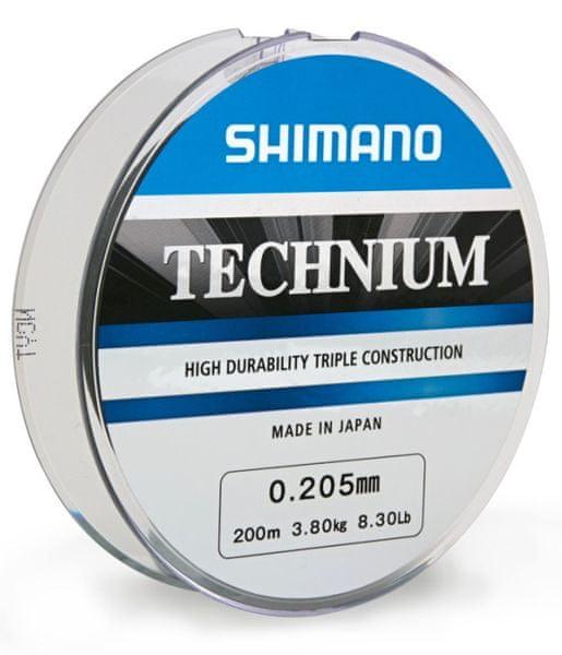 Shimano Vlasec Technium 200 m Tmavá 0,25 mm, 6,10 kg