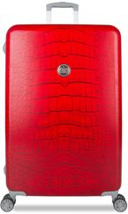 SuitSuit Red Diamond Crocodile Bőrönd, L