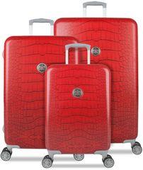 SuitSuit Red Diamond Crocodile Bőrönd szett