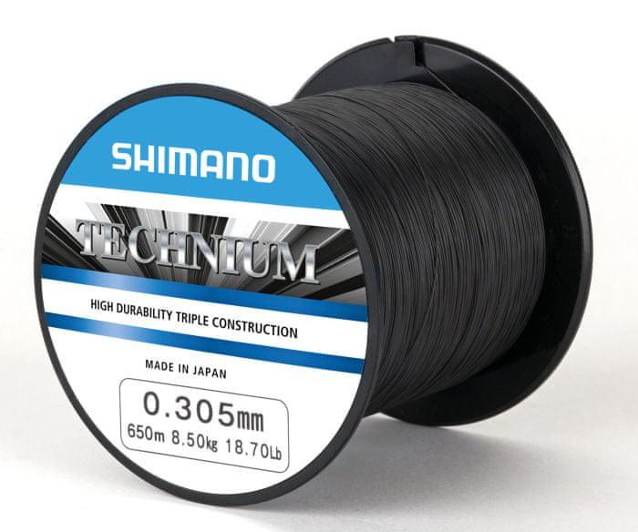 Shimano Vlasec Technium PB Černá 0,255 mm, 6,10 kg
