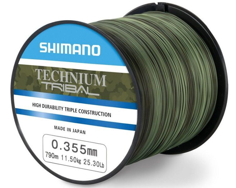 Shimano Vlasec Technium Tribal PB Camou 0,285 mm, 7,50 kg