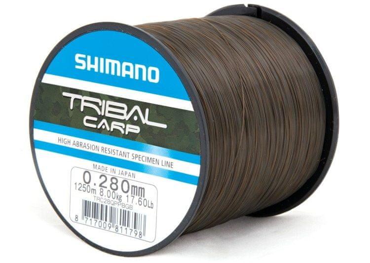 Shimano Vlasec Tribal Carp Hnědá 0,30 mm, 9,25 kg