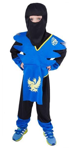 Rappa Kostým NINJA modro-žlutý S