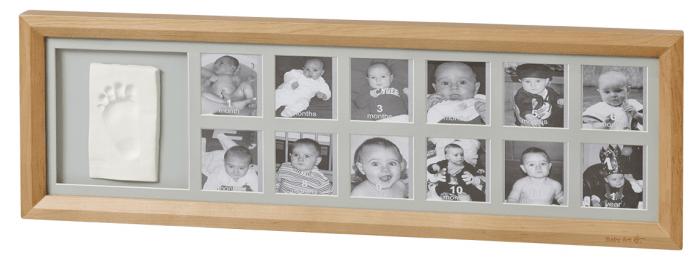 BabyArt Rámeček 1st Year Print Frame, Honey