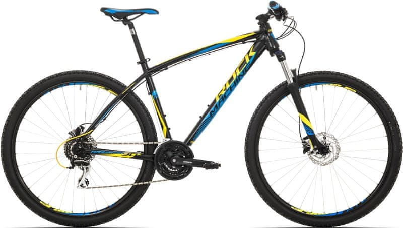 Rock Machine 29er Manhattan 90 black/yellow/blue 2017 16,5""