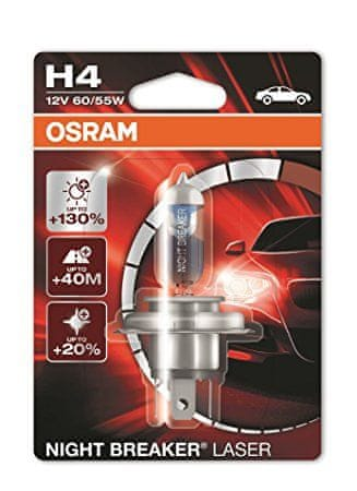 Osram 12V H4 60/55W P14.5s 1ks Night Break Unlimited Laser Blister