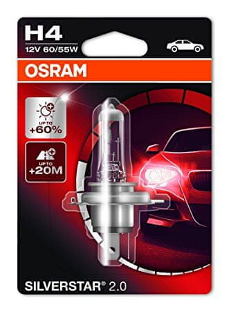 Osram 12V H4 60/55W P14.5s 1ks Silverstar Blister