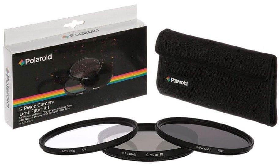 POLAROID Sada 3 filterov 49 mm (UV MC, CPL, ND9)