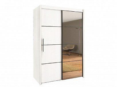 Skříň s posuvnými dveřmi INOVA 150, bílá