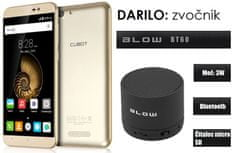 Cubot mobilni telefon Note S dual sim, zlat + darilo: BT zvočnik Blow