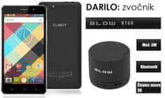 Cubot GSM telefon Rainbow DualSim, črn + darilo: BT zvočnik Blow