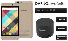 Cubot GSM telefon Rainbow DualSim, zlat + darilo: BT zvočnik Blow