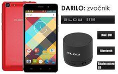Cubot GSM telefon Rainbow DualSim, rdeč + darilo: BT zvočnik Blow