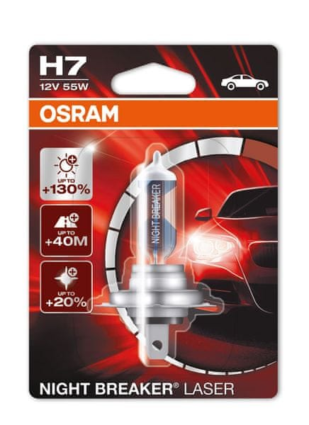 Osram 12V H7 55W P14.5s 1ks Night Break Unlimited Laser Blister
