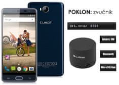 Cubot mobilni telefon Cheetah 2 LTE, plavi + poklon: BT zvučnik Blow