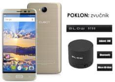 Cubot mobilni telefon Cheetah 2 LTE, zlatni + poklon: BT zvučnik Blow