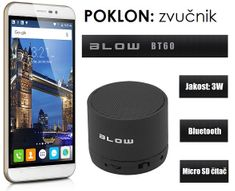 Cubot mobilni telefon Note S, dual sim, bijeli + poklon: BT zvučnik Blow