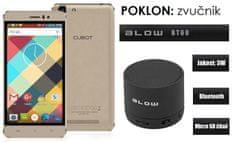 Cubot mobilni telefon Rainbow DualSim, zlatni + poklon: BT zvučnik Blow
