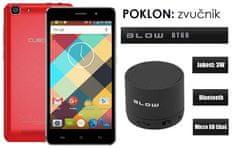 Cubot mobilni telefon Rainbow DualSim, crveni + poklon: BT zvučnik Blow