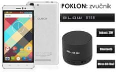 Cubot mobilni telefon Rainbow DualSim, bijeli + poklon: BT zvučnik Blow