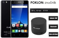 Cubot GSM telefon X16S LTE DualSim, crni + poklon: BT zvučnik Blow