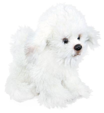 Rappa Plüss Bichon frisé kutya, ülő, 26 cm
