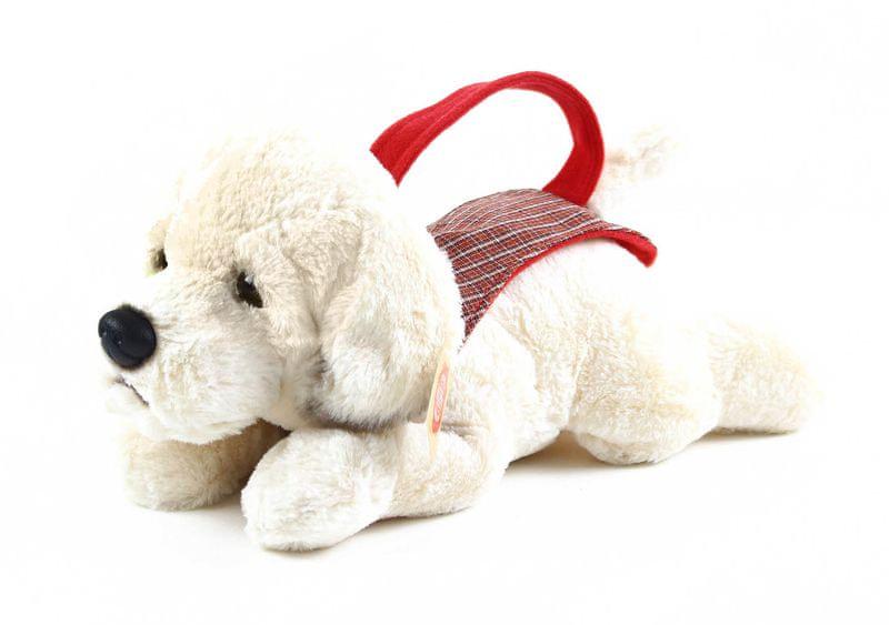 Rappa Plyšový pes labrador s nosítkem, 30 cm