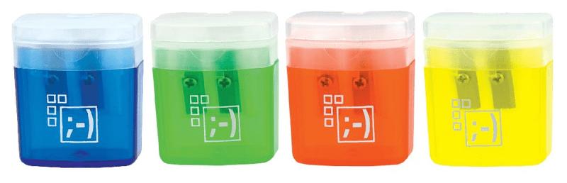 Ořezávátko plastové 2 otvory zásobník+víčko