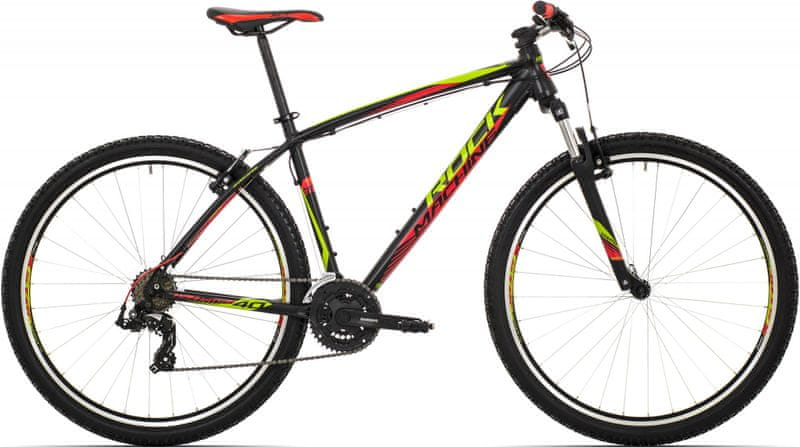Rock Machine 29er Manhattan 40 black/radioactive yellow/red 2017 19""