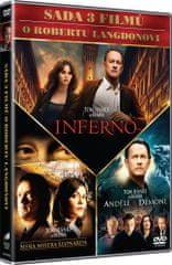 3x Dan Brown: Inferno, Andělé a démoni, Šifra mistra Leonarda (3DVD)   - DVD