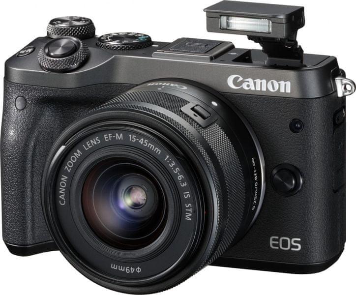 Canon EOS M6 + 15-45 + 55-200 Black