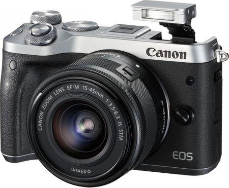 Canon fotoaparat EOS M6 + 15-45 + 55-200