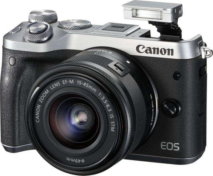Canon EOS M6 + 15-45 + 55-200 Silver