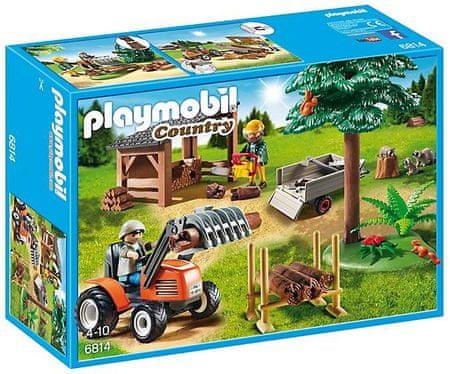Playmobil Drwal z traktorem 6814