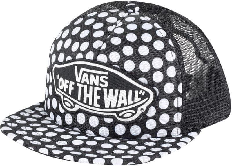 Vans Beach Girl Trucker Hat Oversize Dots