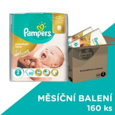Pampers Premium Care Plienky 2 (Mini) 3-6 Kg - 160 ks