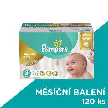 Pampers plenice Premium Care 3 Midi, 4-9 kg, 120 kosov