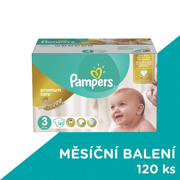 Pampers Pleny PremiumCare 3 Midi - 120 ks