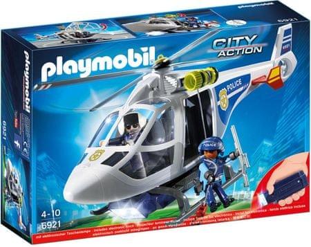 Playmobil Helikopter Policyjny z światłem LED 6921