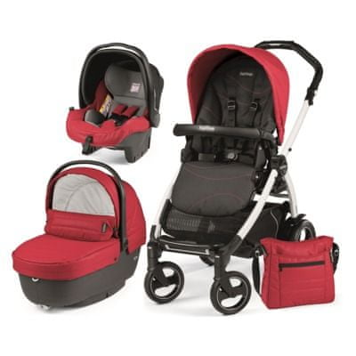 Peg Perego modularni sistem Book S Black&White, XL, Bloom Red
